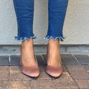 Anthropologie Shoes - Toasted Blush Nude Mega Chunky Glitter Heel Pump